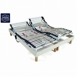 Lit Double Sommier Séparé : deux sommiers lit electrique pour lit double matelas no stress ~ Melissatoandfro.com Idées de Décoration
