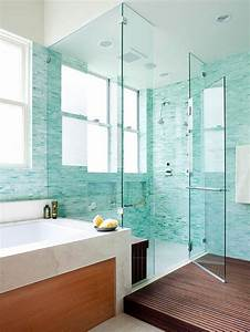 39 blue green bathroom tile ideas and pictures for Blue green bathroom