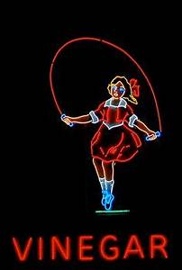 Skipping Girl Vinegar Neon Lights Pinterest