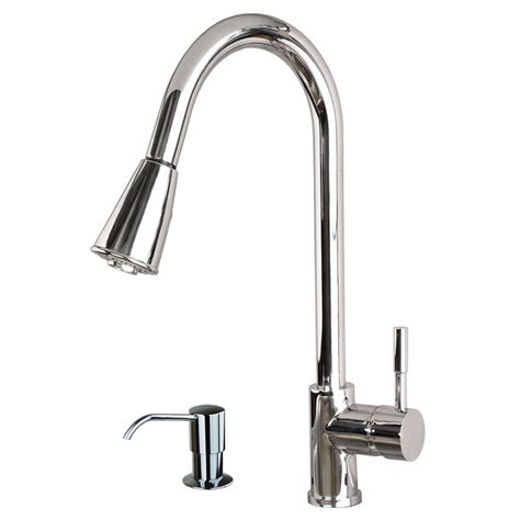 kitchen sink and faucet contemporary 16 quot pull spray kitchen sink faucet with