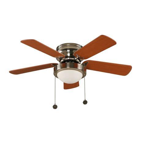 36 outdoor ceiling fan hton bay capri 36 in brushed nickel hugger ceiling fan