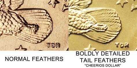 p sacagawea dollar cheerios dollar boldy detailed tail feathers golden dollar coin