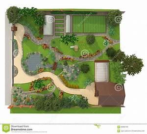 design a garden plot stock illustration image of view With garten planen mit zimmerpflanzen design