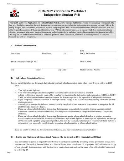 v4 ind verification worksheet 19 imperial valley college imperial valley college