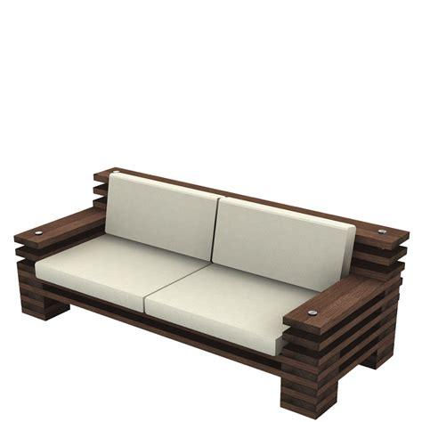 Handgefertigtes Designsofa Aus Holz