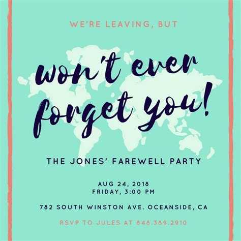 Customize 3,999+ Farewell Party Invitation Templates. Garage Sale Price Tags Free Printable. Award Winning Pumpkin Carving. Youtube Thumbnail Template. Ms Access Invoice Template. Excel Shift Schedule Template. Firearms Record Book Template. House Offer Letter Template. Student Observation Form Template
