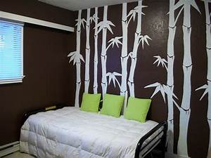 How to paint bamboo on wall for Bamboo wall art