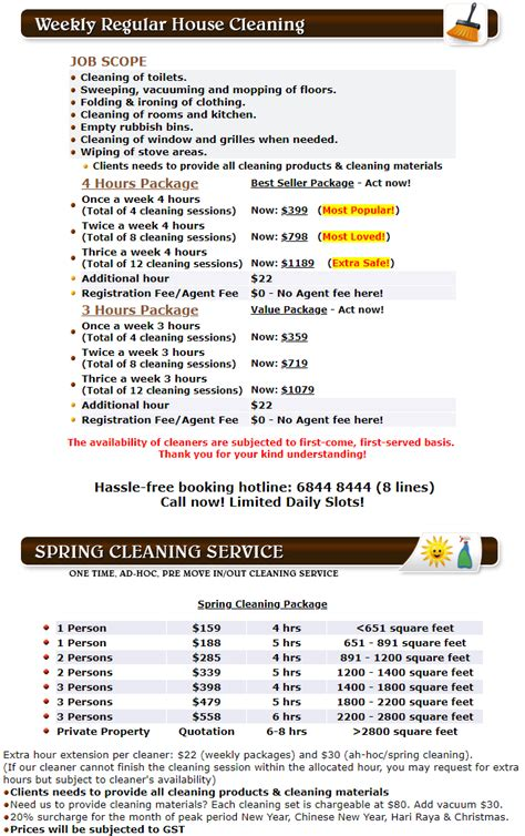 house cleaning rates why choose part time cleaner in singapore singapore laundry
