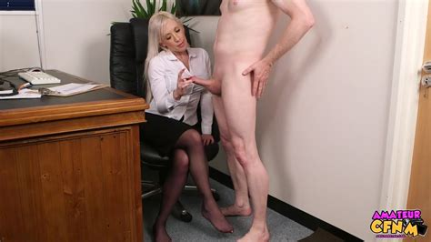 Amateur Cfnm Platinum Blonde Secretary Blows Dick In
