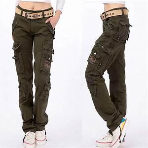 Fashion Full Pants 2017 Women Casual Loose jogger cargo ...