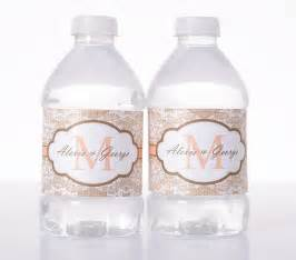 water bottle labels for wedding soft lace burlap print wedding water bottle labels labelsrus
