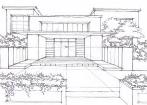 3-Point Perspective House Drawing