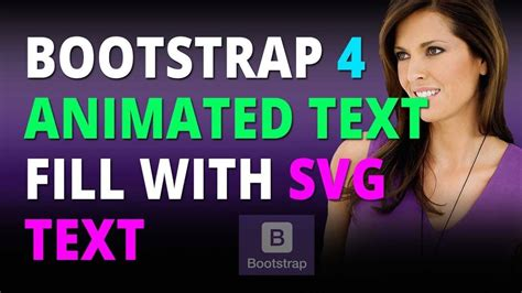You can check our image animator or pick up some icons from our. Bootstrap 4 Create An Animated Text Fill With Svg Text ...