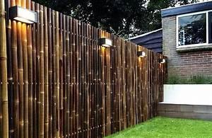 Gartenzaun Günstig Selber Bauen : dunkel get nte bambusstangen f r den sichtschutzzaun verwendet garten pinterest ~ Markanthonyermac.com Haus und Dekorationen