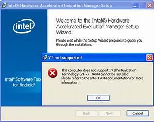 Android Emulator Intel HAXM Installation Error This