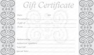 Free Printable Editable Gift Certificate Template