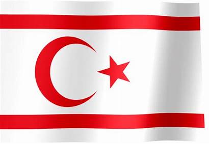 Flag Northern Cyprus Turkish Republic Animated Turkey