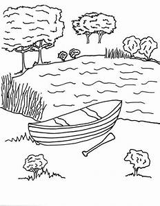 Free, Printable Canoe Coloring Page for Kids