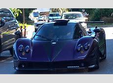 Justin Bieber and Lewis Hamilton Cruise in Purple Pagani Zonda