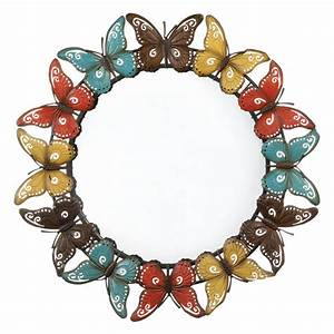 Colorful butterfly wall mirror wholesale at koehler home decor