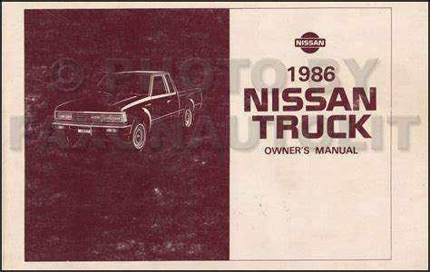 download car manuals pdf free 1992 chevrolet s10 engine control 1986 nissan pickup truck owners manual owner guide book 720 pick up gas diesel ebay