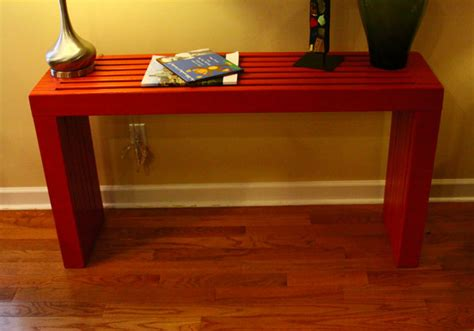 build a sofa table ana white modern vertical slat top console diy projects