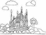Coloring Gemerkt Moschee sketch template