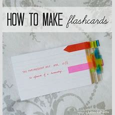 Great Blog With Creative Ideas For Using Flashcards To