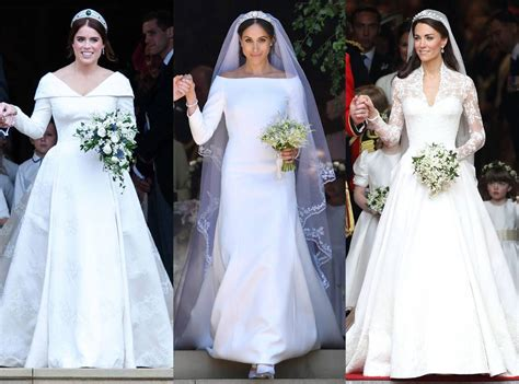 How Princess Eugenie's Wedding Dress Compares To Kate