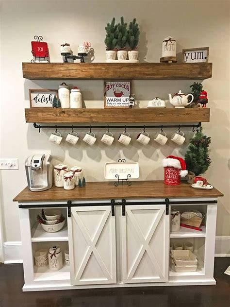 Home Coffee Bar Design Ideas by Sideboard Coffee Buffet Floating Shelves By White