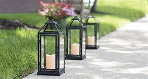 Light, Up, Your, Driveway, With, Bold, Black, Metal, Lanterns