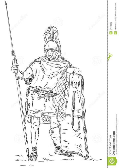 roman soldier legionnaire stock vector illustration