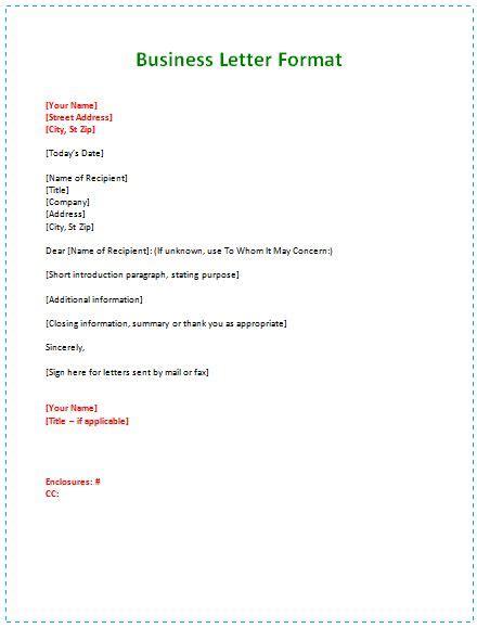 business letter format  pcs pinterest