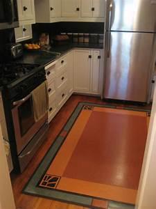 Linoleum rug in Craftsman Kitchen - Traditional - Kitchen