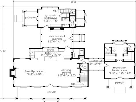 southern home floor plans southern living floor plans with guest houses southern
