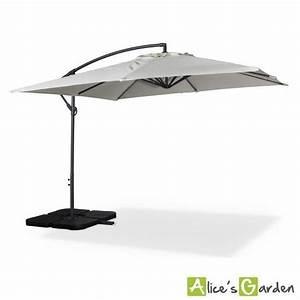 Parasol Déporté Carré : parasol d port carr 3x3m hardelot ecru achat vente parasol deporte pas cher ~ Mglfilm.com Idées de Décoration