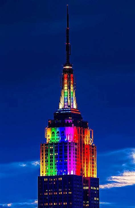 empire state color of facts empire state building light show