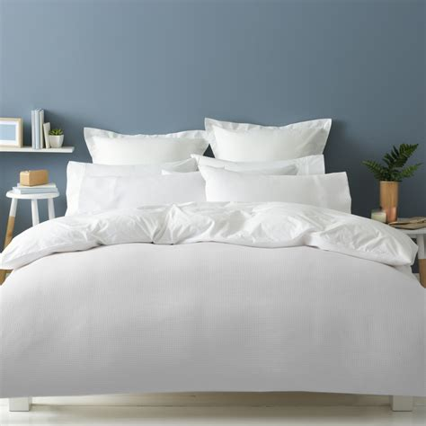 Waffle Quilt Cover Set  Queen Bed Kmart