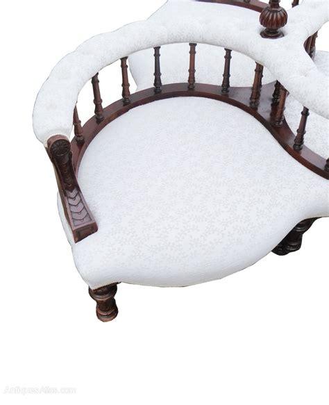 early mahogany conversation seat antiques atlas
