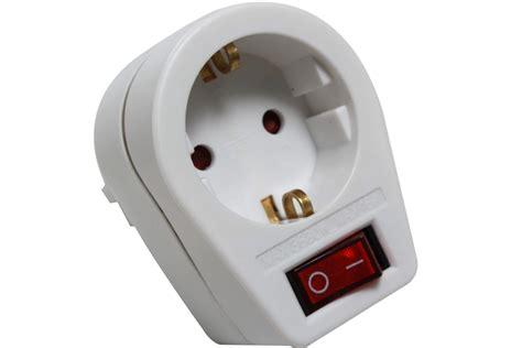 wandle mit schalter und stecker steckdose adapter mit schalter und kindersicherung real
