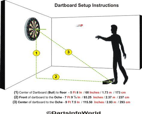 tip darts darts governing dartboard setup measurements