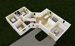 revgercom plan interieur maison en v idee inspirante With plan de maison 100m2 14 recherche plan de maison en v env 100m2 33 messages