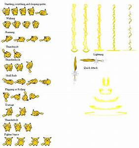 Pikachu Sprite Sheet by boomchica | Sprite | Pinterest ...