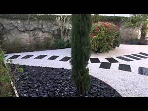 amenagement de jardin sur plusieurs niveaux doovi With good amenagement jardin autour piscine 10 mur de clature en gabion contemporain jardin