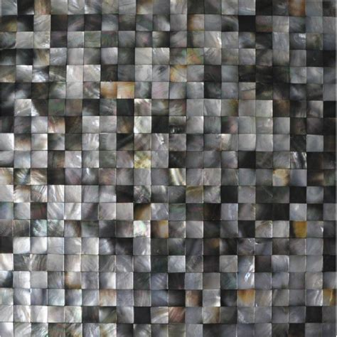 seashell mosaic seamless of pearl tiles for