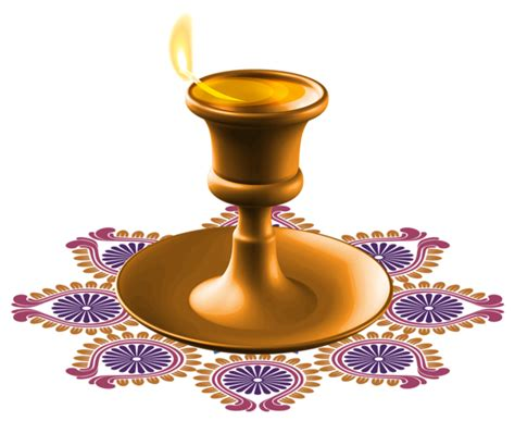 Happy Diwali Candle Png Clipart