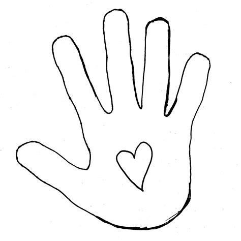 child handprint template clipart