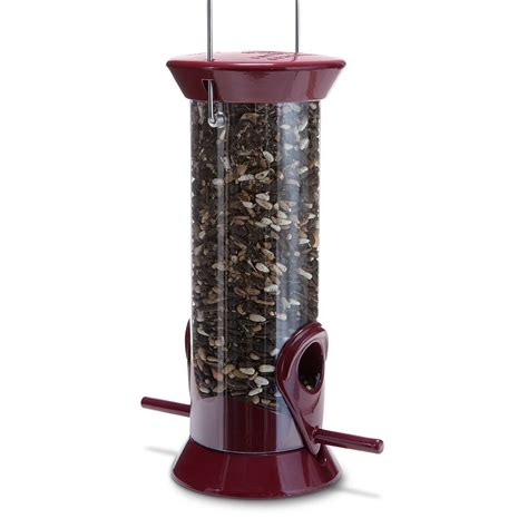 new generation 8 quot burgundy sunflower mixed seed feeder