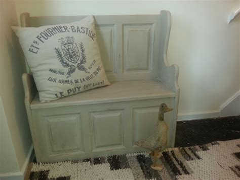 Monks bench painted in Annie Sloan Country Grey by Little