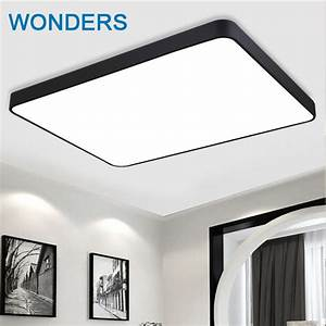 Black white mordern contracted iron square diy ceiling